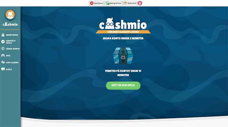 cashmio casino lobby