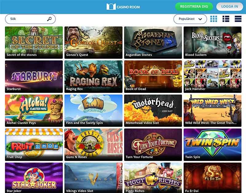 casinoroom spelutbud