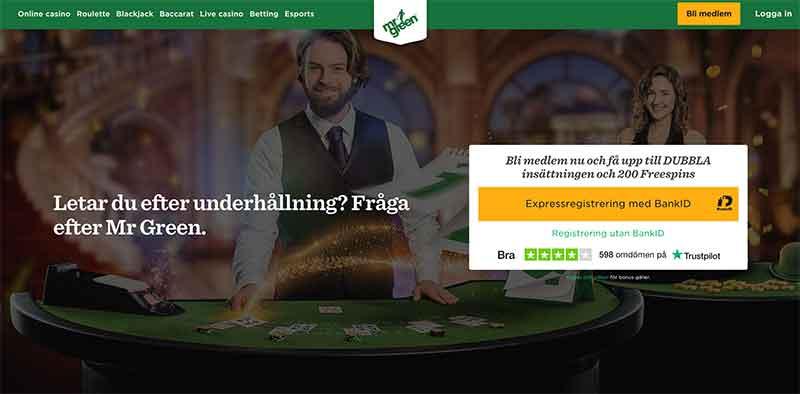 mr green casino lobby