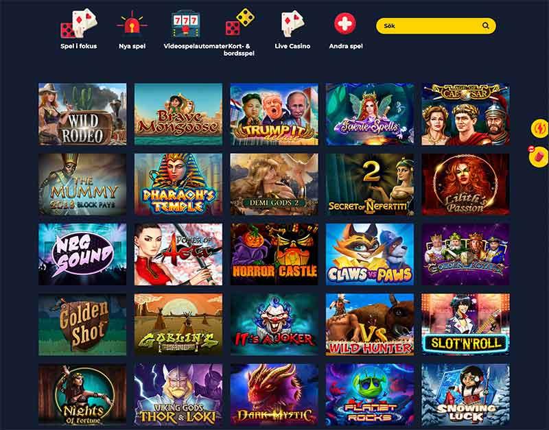 spin up casino spelutbud