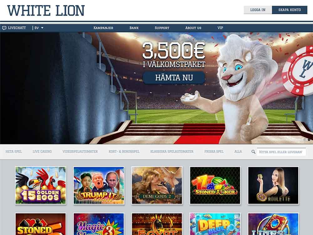 white lion screenshot